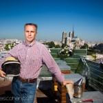 Reportage magazine -Rucher sur les toits de la Tour d'Argent 1