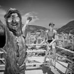 Statut de Michael Jackson errigée lors de son passage dans cette favela - Rio